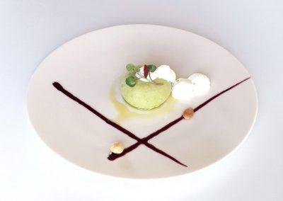 Il flan del nostro orto, una creazione del Ginevra, ristorante Gourmet ad Ancona